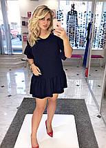 """Короткое ангоровое платье-трапеция """"Камилла"""" с оборками (большие размеры), фото 2"""