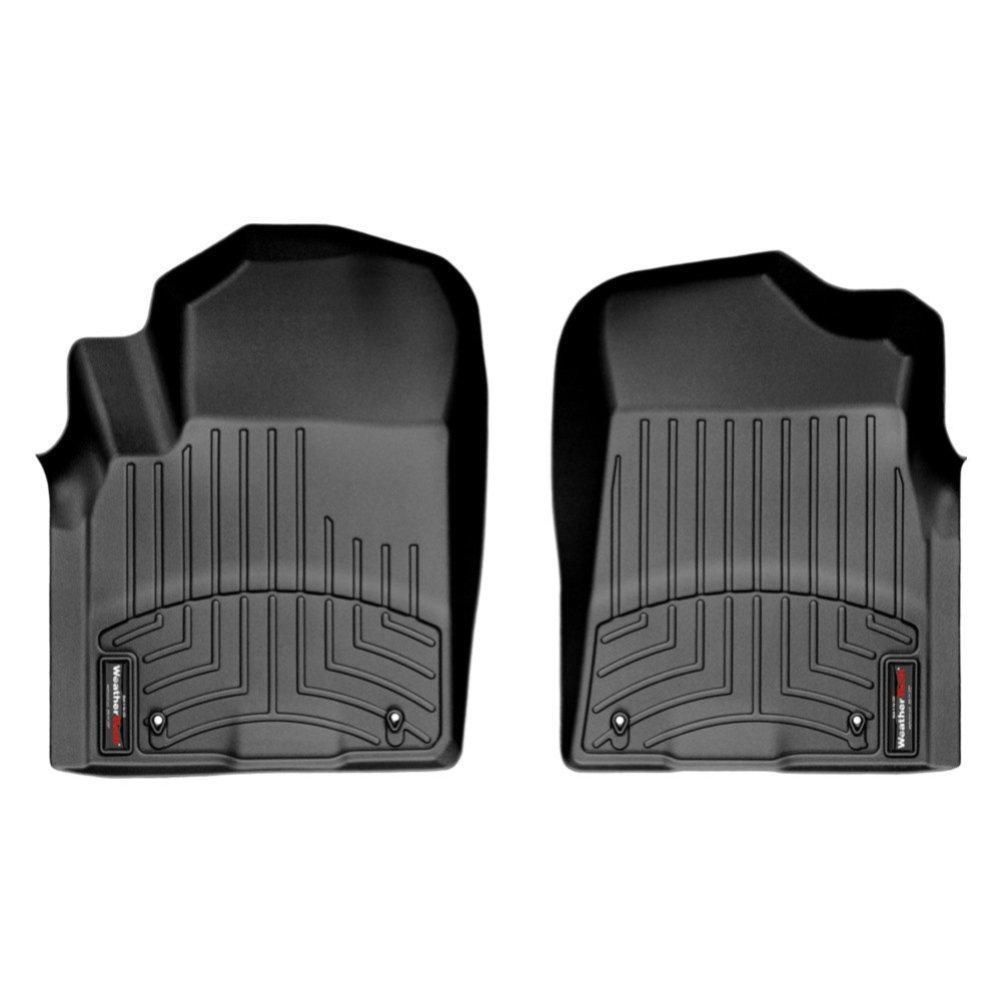 Килимки в салон для Infiniti QX56 2010 - з бортиком чорні передні 443361