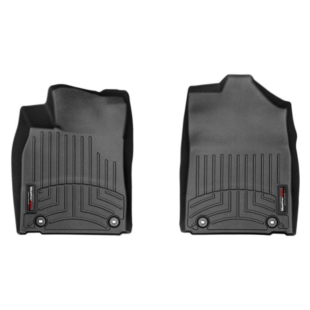 Килимки в салон для Лексус ES 2013 - з бортиком передні чорні 444761