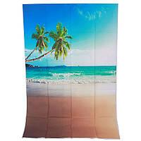 1x1.5m 3x5ft побережье кокосовой пальмы винил фотостудия фото фон
