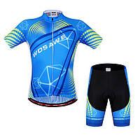 WOSAWE Unisex Велоспорт Шорты Костюмы с коротким рукавом Велосипед Джерси Спортивные шорты Летние отражающие