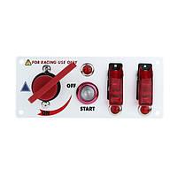 Автомобиль модифицированный пусковой выключатель зажигания два рокеры панели переключателя красный свет 20A 12v