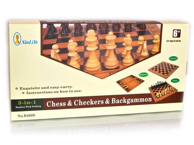 набор 3 в 1 - шахматы, нарды, шашки