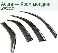 Acura MDX II 2007-2013 Хром Молдинг — ветровики/дефлекторы окон (комплект)