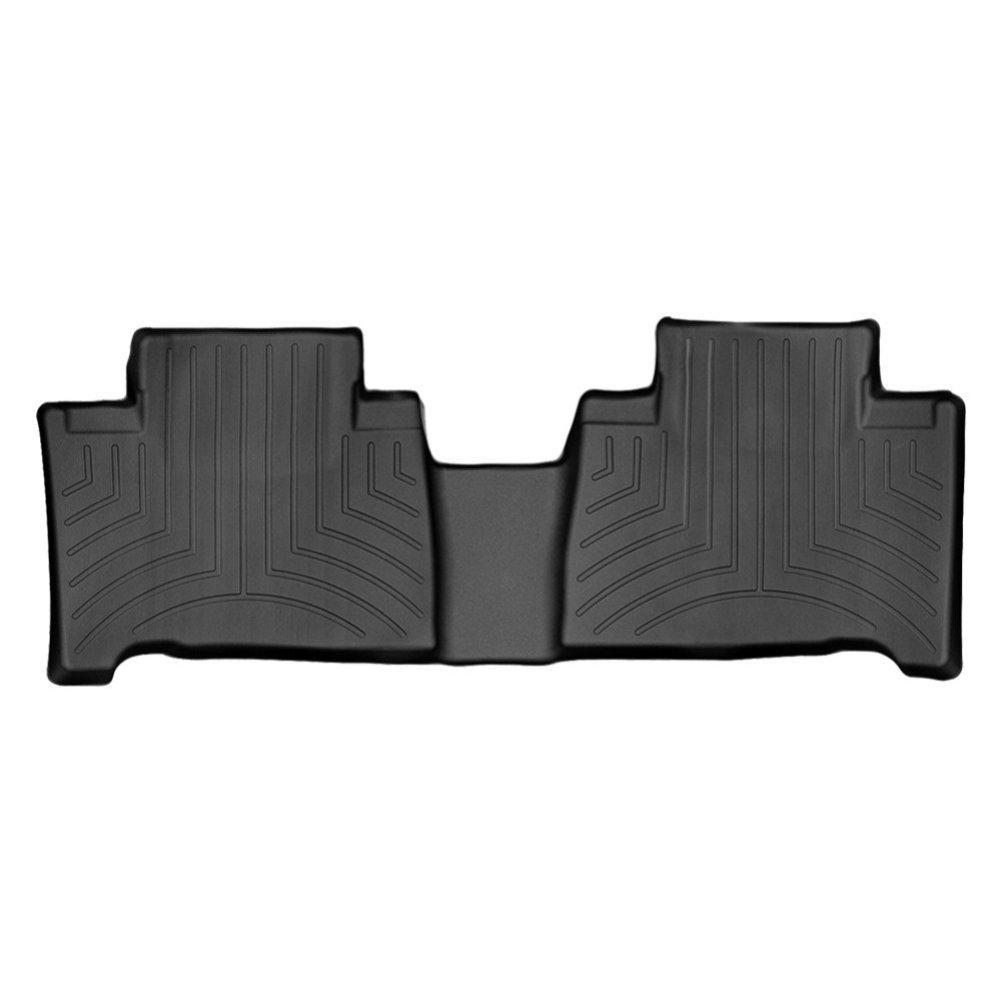 Килимки в салон для Лексус NX 2015 - з бортиком чорні задні 447492