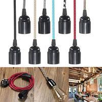 E27 2м ткани кабель ик штекер в подвесной светильник света комплект фитинга старинные лампы держатель гнезда