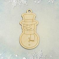 """Фигура из фанеры 0.4 """"Снеговик"""", 5.5*11 см"""
