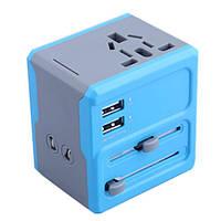 ВТА-608 многофункциональный универсальный двойной USB-зарядное устройство конвертер штепсель
