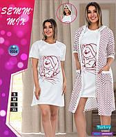 Комплект для беременных и кормящих халат +рубашка