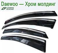 Daewoo Nexia Sd 1995; 2008 ХРОМ МОЛДИНГ — ветровики/дефлекторы окон (комплект)