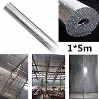 1м * 5м завод крыша изолирующая пленка двойной пузырь алюминиевой фольги чердачная изоляция рулон