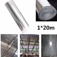 1m * изолирующая пленка 20m тепла двойной пузырь алюминиевой фольги чердачная изоляция рулона пленки стены караван