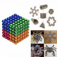 216шт 5мм красочные поделки Нео куб волшебные бусы магнитные шарики головоломки