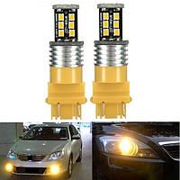 2x 3157 высокой мощности 15w 2835smd LED Индикатор световой сигнал лампочки задние желтым цветом желтый