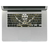 Съемный 3D-эффект винила клавиатуры кожи наклейка для Macbook Pro 13 дюймов
