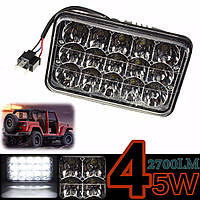 45W 15LED Work Light Lamp луча потока для Jeep Тягач Лорри 12V 24V H/L Beam
