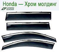 Honda FR-V 2004-2009/Edix 2004-2009 Хром Молдинг — ветровики/дефлекторы окон (комплект)