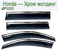 Honda Pilot II 2008 СИНИЙ Хром Молдинг — ветровики/дефлекторы окон (комплект)