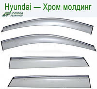 Hyundai Genesis Sd (DH) 2013 Хром Молдинг — ветровики/дефлекторы окон (комплект)