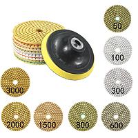 4-дюймовый 50-3000 9pcs Грит шлифовальной колодки с самоклеющейся диск, шлифовальный инструмент
