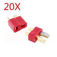 20 пара огнеупорные T Plug - разъем для RC ESC аккумулятор