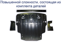 Защита двигателя и КПП FORD Sierra 2,0 с 1983 по 1992