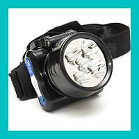 Налобный светодиодный фонарик WIMPEX WX 1829-5!Хит