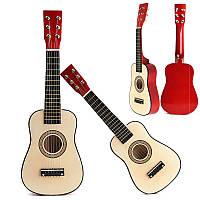 Красный 23 начинающих практиковать акустическая гитара ж/6 струны для детей детей
