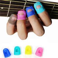 10pcs гитары укулеле пальца бас силикона пальца палец выбирает протектор плектр