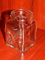 Банка стеклянная 270 мл с горловиной твист 63 Кубик (20 штук в упаковке), фото 1