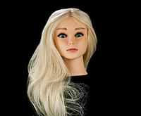 Учебный манекен, светлый натуральный волос 50 см