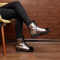 Женские зимние ботинки на шнуровке модель 7223.1