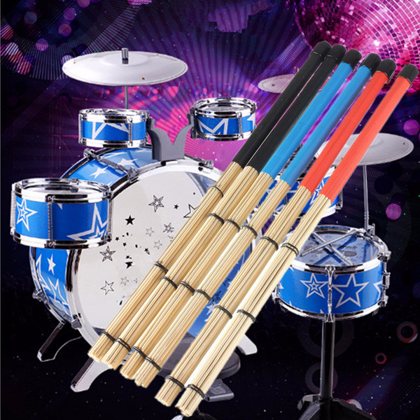 40см рок-джаз барабан щетки палочки, сделанные из бамбука резиновой ручкой древесины наконечником - ➊TopShop ➠ Товары из Китая с бесплатной доставкой в Украину! в Днепре