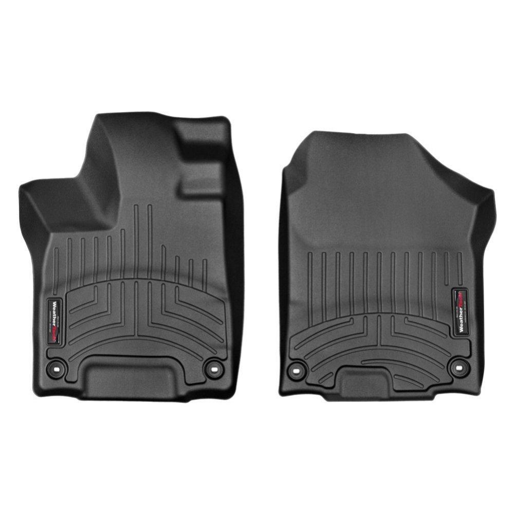 Коврики в салон для Honda Pilot 2017- с бортиком передние черные 448391