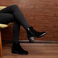 Женские зимние ботинки на широком каблуке модель 7143.1