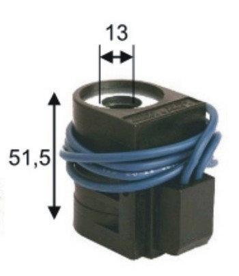 Катушка Largo 24В 13x51,5 мм с проводами