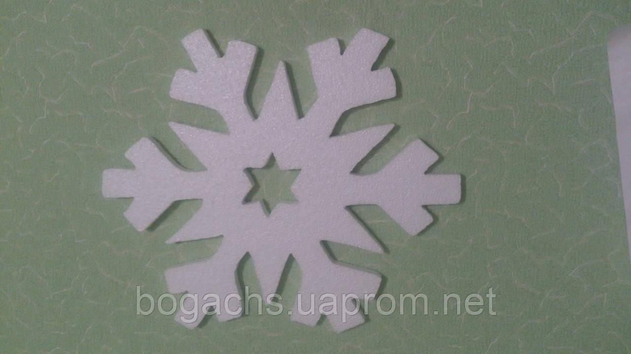 Снежинка из пенопласта толщина 2 см Ø 50 см (подложка из пенопласта)