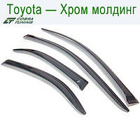 Toyota Avensis Wagon 2003-2008 Хром Молдинг — ветровики/дефлекторы окон (комплект)