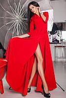 Красное вечернее платье ГАРСИЯ в пол