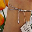 Брендовый женский браслет серебро 925 пробы - Серебряный родированный женский браслет Капля с фианитами, фото 4
