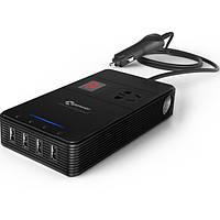 Очистка AC USB автомобиля инвертор t1a многофункциональное зарядное устройство 2.4а воздуха