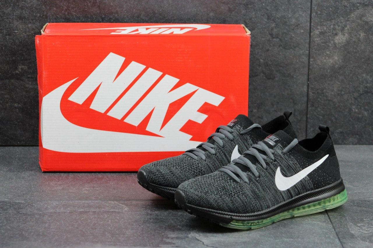 Кроссовки Nike мужские (серые с черным), ТОП-реплика