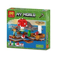 """Конструктор Minecraft Lele 33049 """"Грибной Остров"""" (аналог Lego Майнкраф 21129), 253 дет"""