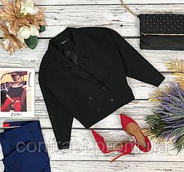 Оригинальный укороченный пиджак Gina Tricot с двубортной застежкой на запах