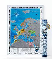 Скретч карта Европы Discovery Map Europe (в тубусе) английский язык
