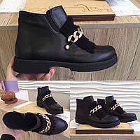 Кожаные Ботинки на флисе 39 размер
