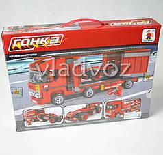 Игровой конструктор машинка грузовик гонка трейлер Ausini F1