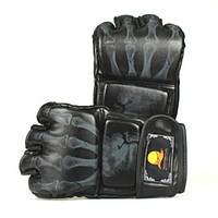 Кожа PU боксерские перчатки MMA ик спарринг борется бесплатно боя муай тай черный