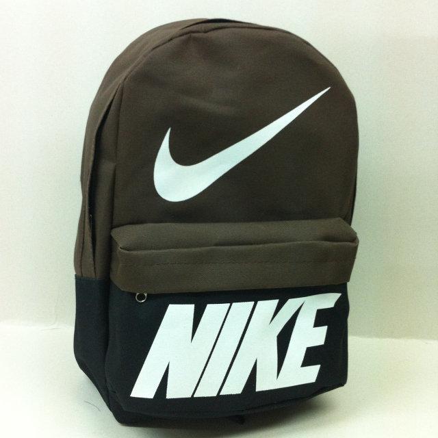 Рюкзак молодіжний Nike, Найк чорний з коричневим ( код: IBR072BK )