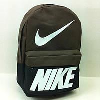 Рюкзак молодіжний Nike, Найк чорний з коричневим ( код: IBR072BK ), фото 1